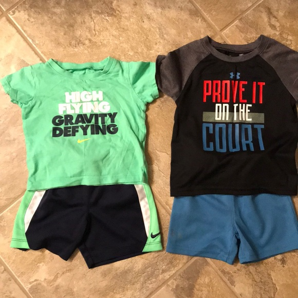 9580a61ced 18 month boy Nike & Under Armour outfits